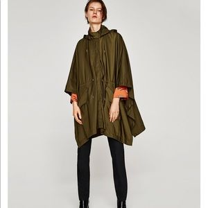 Oversized Cape with Removable hoodie, NWT